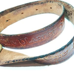 The Blarney Stone Genuine Leather Vintage Belt L